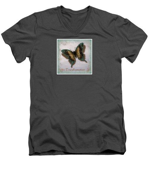 Butterfly Of Transformation Men's V-Neck T-Shirt by Bobbee Rickard