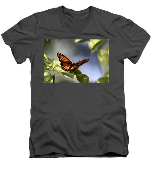 Butterfly -  Soaking Up The Sun Men's V-Neck T-Shirt by Travis Truelove