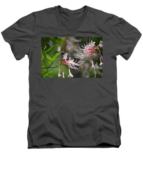 Men's V-Neck T-Shirt featuring the photograph Buzz Buzz by Tara Potts