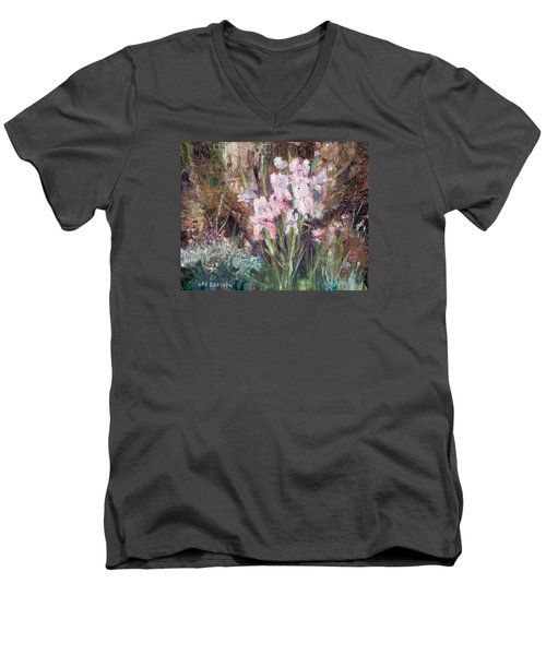 By The Side Of The Road Men's V-Neck T-Shirt by Lee Beuther