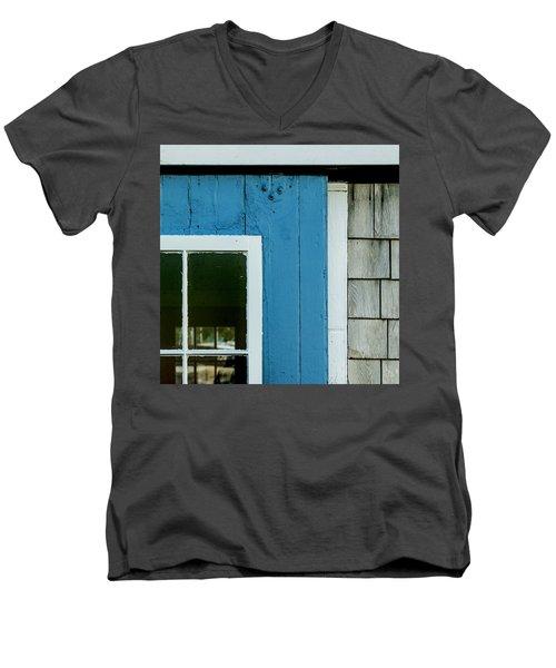 Old Door In Blue Men's V-Neck T-Shirt