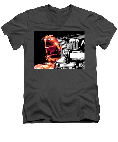 Men's V-Neck T-Shirt featuring the digital art C3po by J Anthony