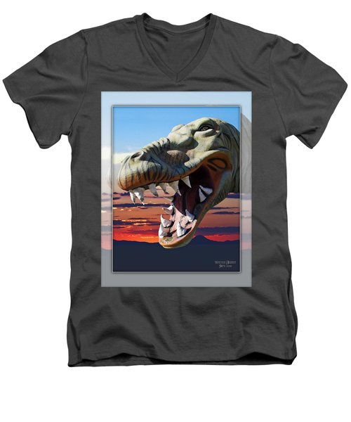 Cabazon Dinosaur Men's V-Neck T-Shirt