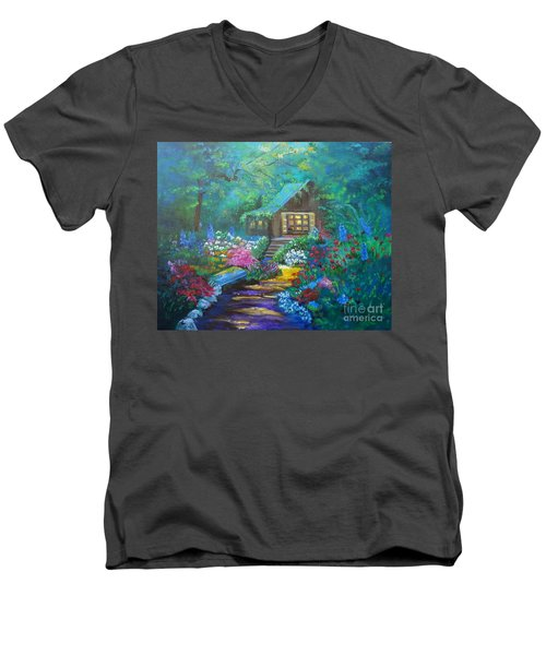 Cabin In The Woods Jenny Lee Discount Men's V-Neck T-Shirt