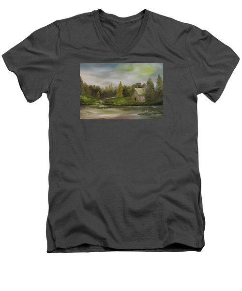 Cabin Retreat Men's V-Neck T-Shirt