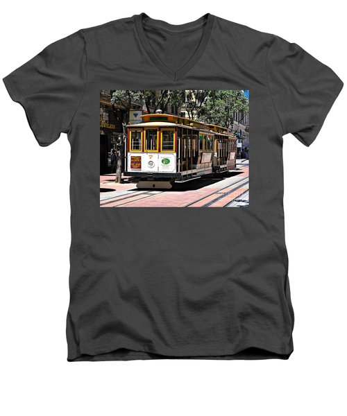 Cable Car - San Francisco Men's V-Neck T-Shirt