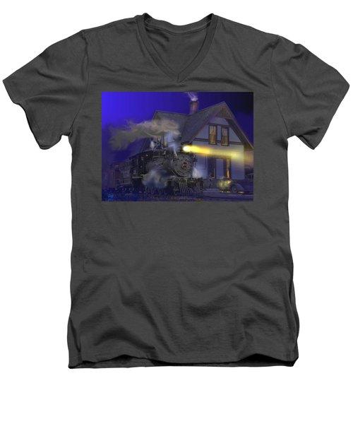 Caboose Hop At Dolores Colorado Men's V-Neck T-Shirt
