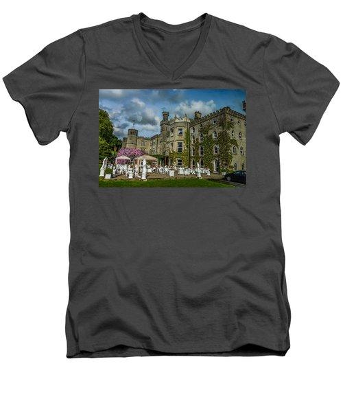 Cabra Castle - Ireland Men's V-Neck T-Shirt by Marilyn Burton