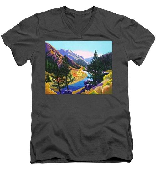Cache De Poudre Men's V-Neck T-Shirt