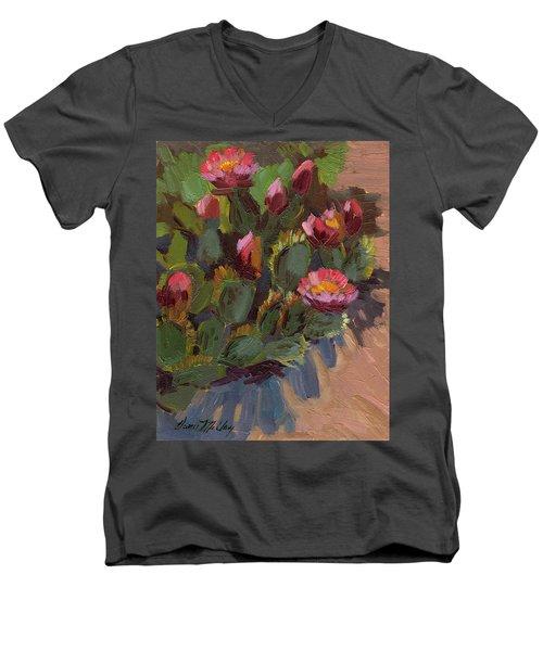 Cactus In Bloom 2 Men's V-Neck T-Shirt