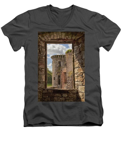 Caerlaverock Castle Men's V-Neck T-Shirt