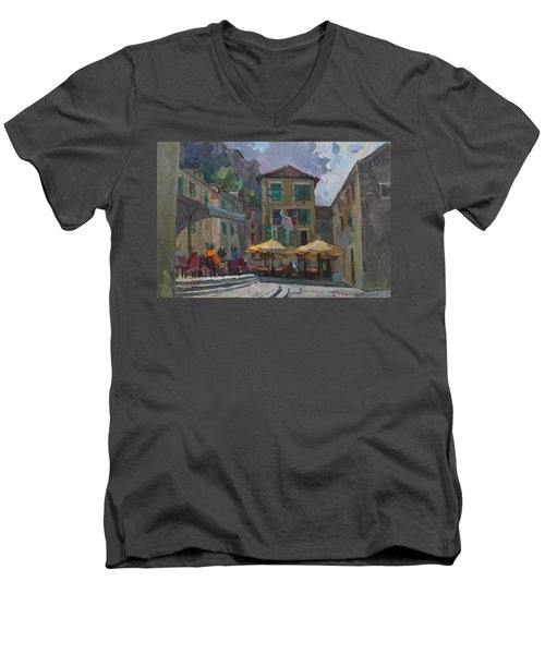 Cafe In Old City Men's V-Neck T-Shirt