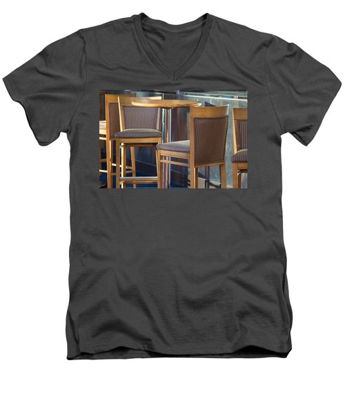 Men's V-Neck T-Shirt featuring the photograph Cafe by Patricia Babbitt