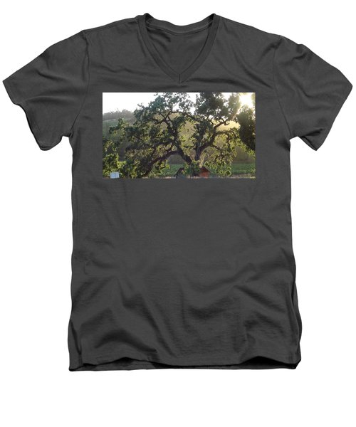 Men's V-Neck T-Shirt featuring the photograph Cali Setting by Shawn Marlow