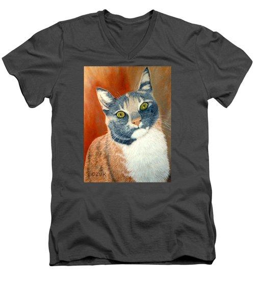 Calico Cat Men's V-Neck T-Shirt