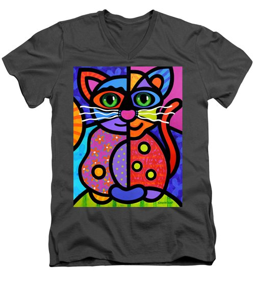 Calico Cat Men's V-Neck T-Shirt