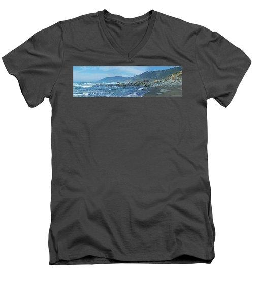 California Beaches 3 Men's V-Neck T-Shirt