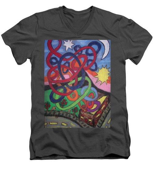 California Men's V-Neck T-Shirt by Jonathon Hansen