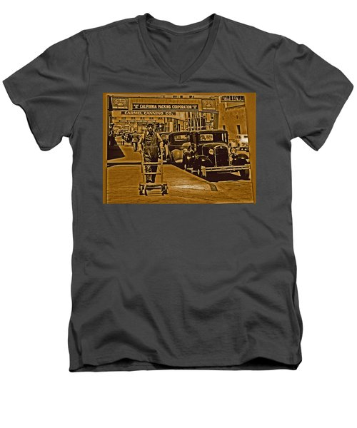 California Packing Corporation Men's V-Neck T-Shirt