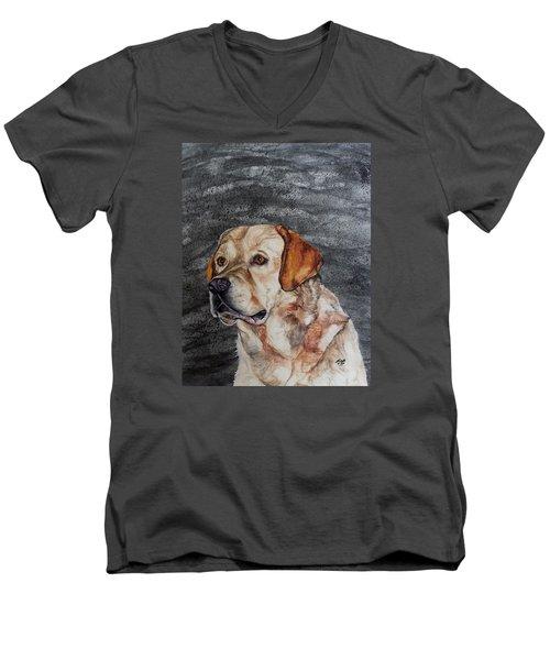Call Him Men's V-Neck T-Shirt by Raymond Perez