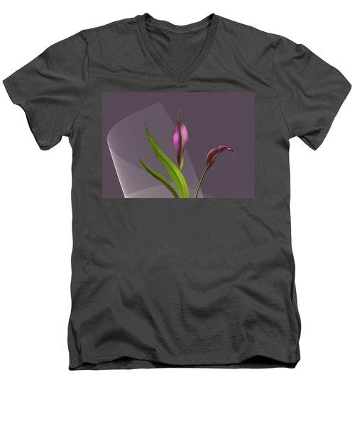 Calla Lillies Men's V-Neck T-Shirt