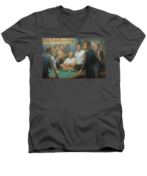 Callin The Blue Men's V-Neck T-Shirt