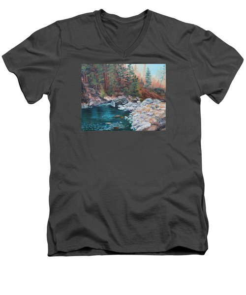 Calling Me Home Men's V-Neck T-Shirt by Patricia Olson