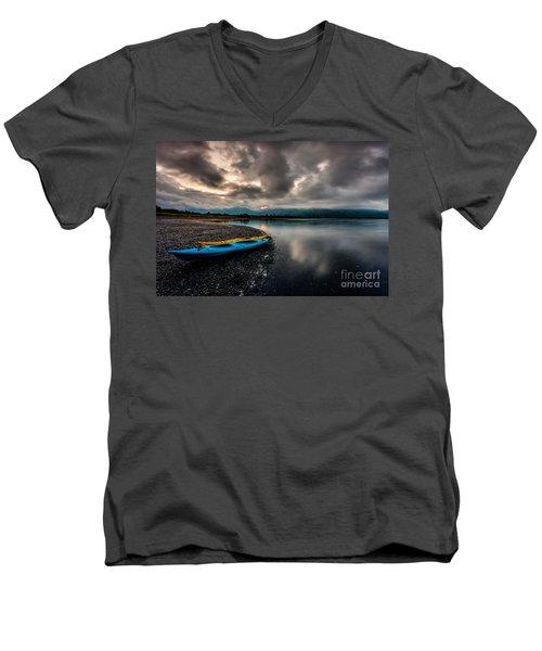 Calm Evening Men's V-Neck T-Shirt by Steven Reed