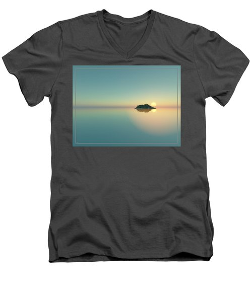 Calm Seas Sunset... Men's V-Neck T-Shirt