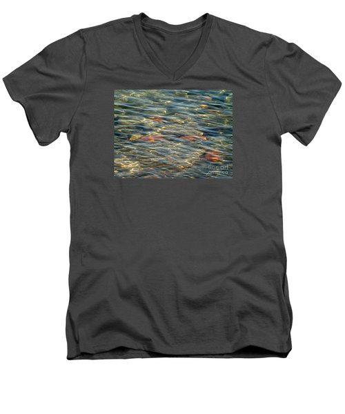 Men's V-Neck T-Shirt featuring the photograph Calming Waters by Susan  Dimitrakopoulos