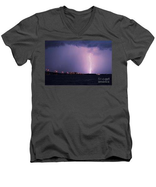 Caloosahatchee River Men's V-Neck T-Shirt by Quinn Sedam