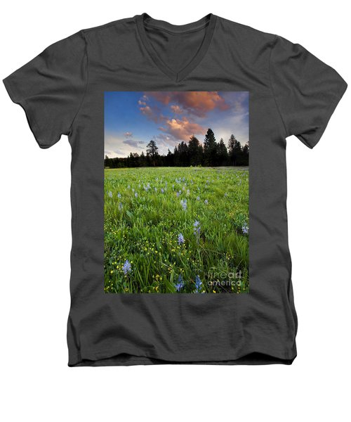 Camas Sunset Men's V-Neck T-Shirt