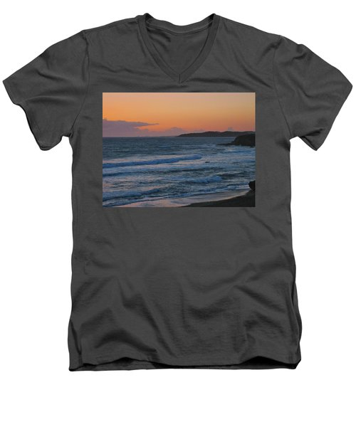 Men's V-Neck T-Shirt featuring the photograph Cambria by Angela J Wright