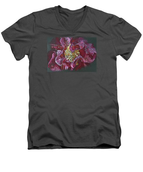 Camellia Rain Men's V-Neck T-Shirt