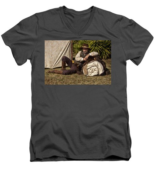 Camp Men's V-Neck T-Shirt