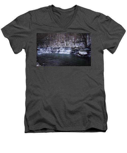 Campbell Falls Men's V-Neck T-Shirt by Melissa Petrey