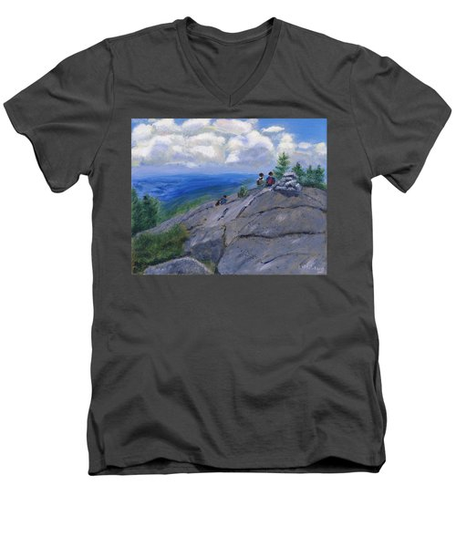 Campers On Mount Percival Men's V-Neck T-Shirt