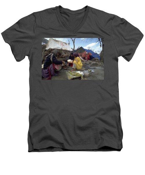 Camping In Iraq Men's V-Neck T-Shirt