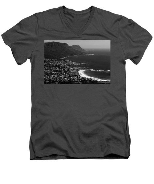 Camps Bay Cape Town Men's V-Neck T-Shirt by Aidan Moran