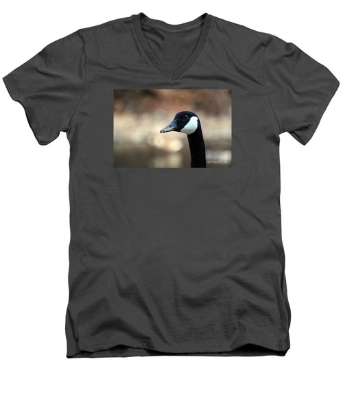 Men's V-Neck T-Shirt featuring the photograph Canadian Goose by David Jackson
