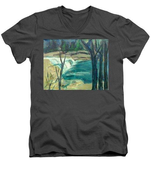 Canajoharie Creek Near Village Men's V-Neck T-Shirt by Betty Pieper