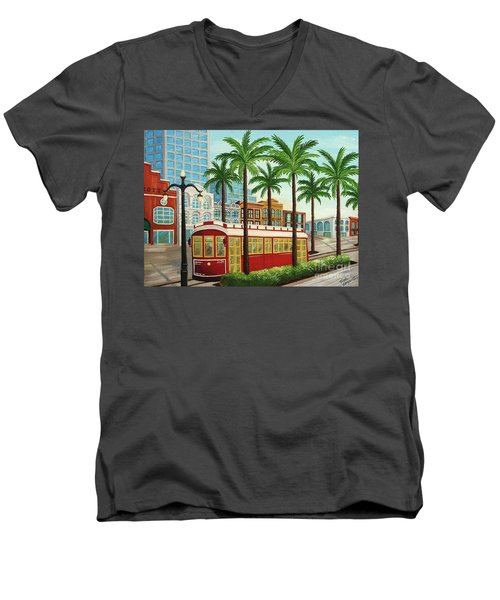 Canal Street Car Line I I Men's V-Neck T-Shirt