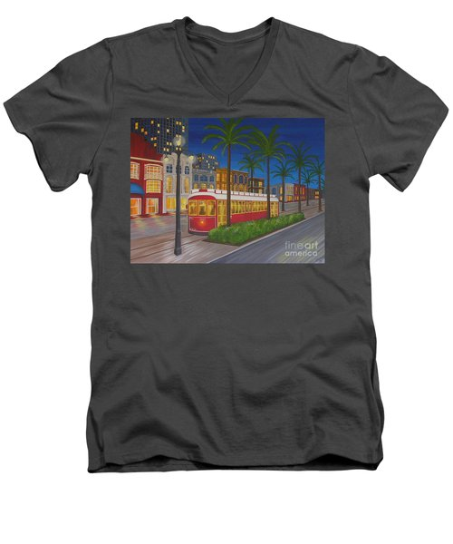 Canal Street Car Line Men's V-Neck T-Shirt