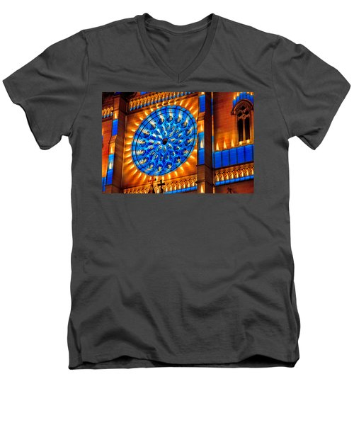 Candle Lights On Walls Men's V-Neck T-Shirt
