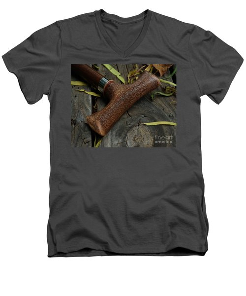 Men's V-Neck T-Shirt featuring the photograph Cane And I by Peter Piatt
