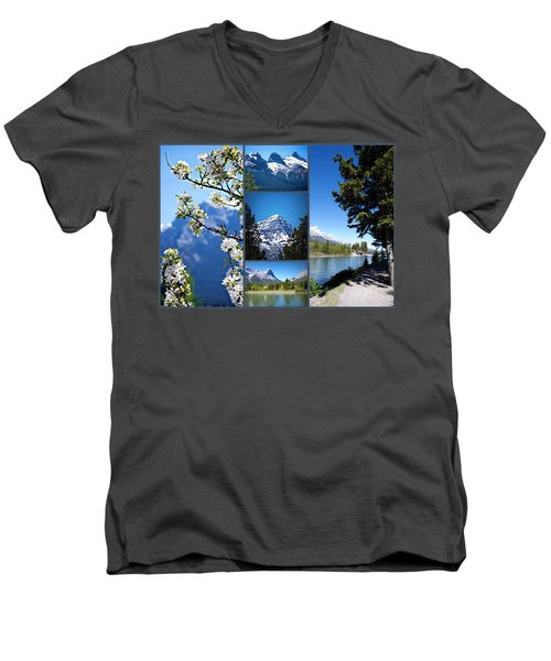 Canmore Alberta Men's V-Neck T-Shirt