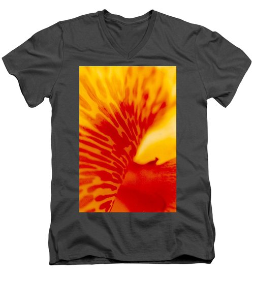 Men's V-Neck T-Shirt featuring the photograph Canna Lilly by Michael Hoard