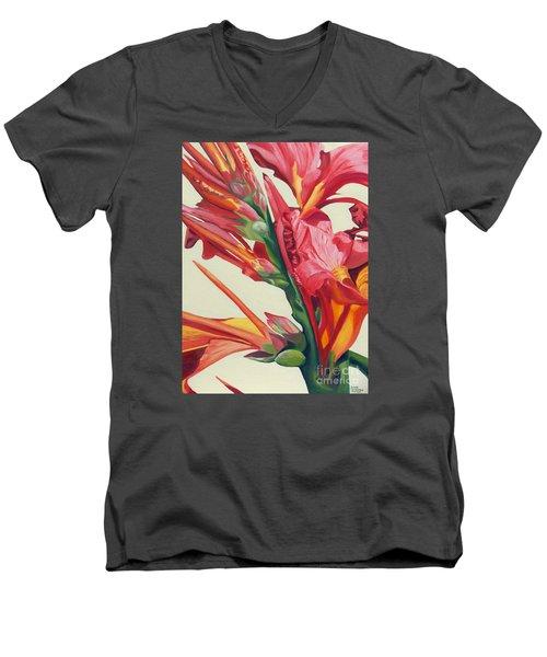 Canna Lily Men's V-Neck T-Shirt