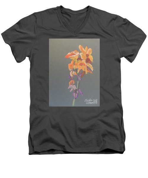 Canna Men's V-Neck T-Shirt by Pamela  Meredith