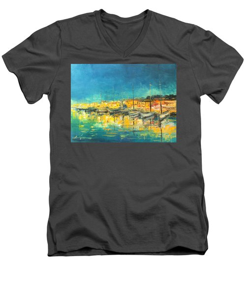 Cannes By Night Men's V-Neck T-Shirt
